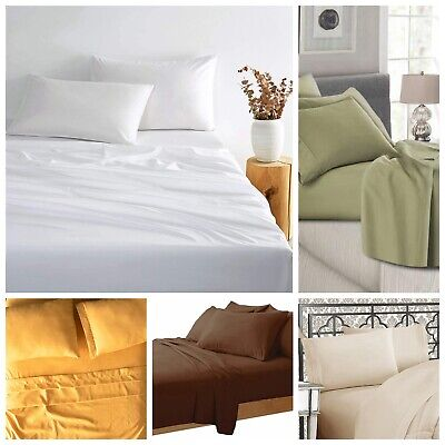 AU24.95 • Buy 1500TC Ultra SOFT - 4 Pcs FLAT & FITTED Sheet Set Queen/King Size FREE SHIPPING