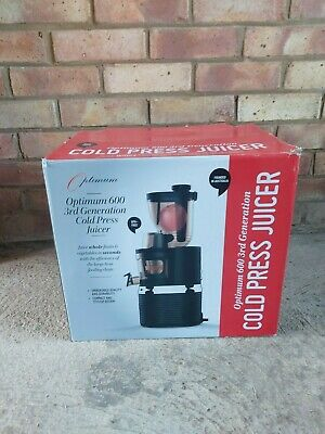 £129 • Buy Optimum 600 3rd Generation Cold Press Juicer - Used Good Condition