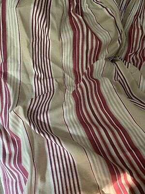 £39.99 • Buy Laura Ashley Pink Raspberry Awning Stripe Lined Curtains 64w X 70d Excond