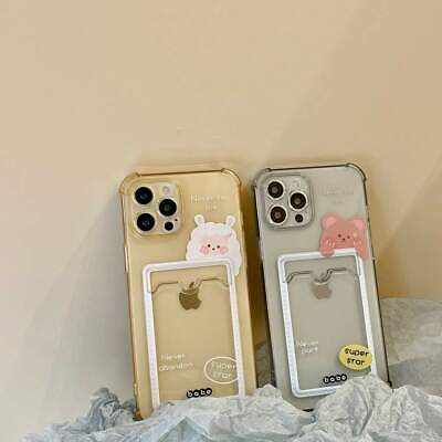 AU7.15 • Buy Clear TPU Card Slot Back Phone Cover Case For IPhone 7 8plus 11 12 Pro Max XS XR