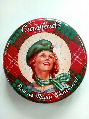 £15 • Buy Crawford's Bonnie Mary Shortbread Biscuit Tin -  1960s