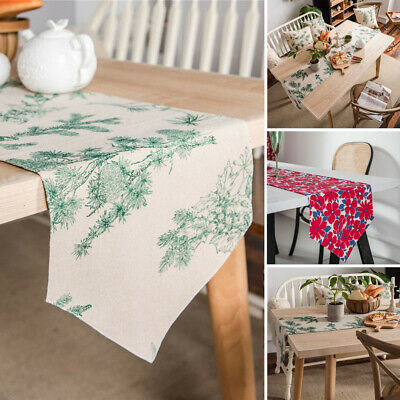 AU15.88 • Buy New Printed Table Runner Cotton Dining Placemat Tablecloth Vintage Home Decor