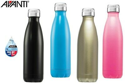 AU21.95 • Buy Avanti Water Vacuum Thermo Bottle 500ml Dual Wall Stainless Steel Cold Hot Drink