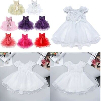 £15.92 • Buy Baby Girls Princess Bowknot Tutu Dress Wedding Pageant Communion Party Ball Gown