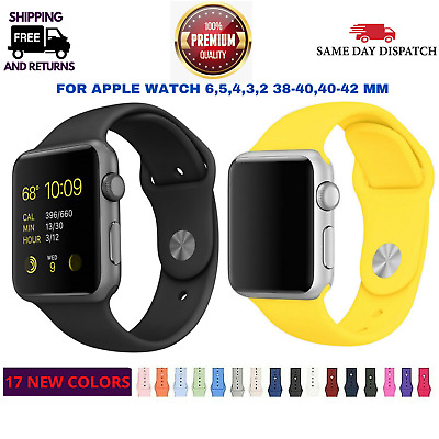 AU9.45 • Buy For Apple Watch IWatch 6,SE,5,4,3,2 Sports Silicone Strap Band -42-44mm -38-40mm