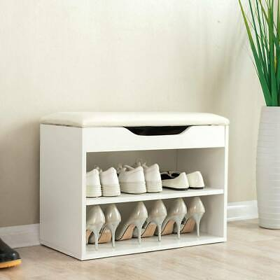 £47.99 • Buy Shoe Rack Storage Cabinet Bench Hallway Footwear Shoes Stool With Seat Cushion