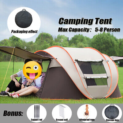 AU89.99 • Buy Pop Up Tent 5-8 Person Instant Family Waterproof Dome Hiking Beach Camping Tent
