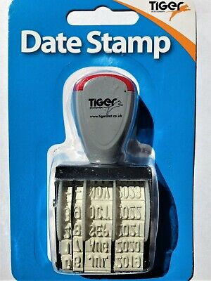 £4.99 • Buy DATE STAMP - Day - Month - Year - Easy Grip - Perfect Ink Pad Use
