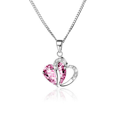 £9.99 • Buy Children's Girls Kids Jewellery Crystal Heart Necklace & Sterling Silver Chain