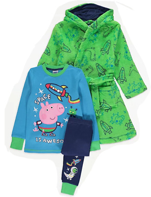 £28.99 • Buy George Pig: Pyjama/dressing Gown,2/3,3/4,4/5,5/6,yr,new With Tags