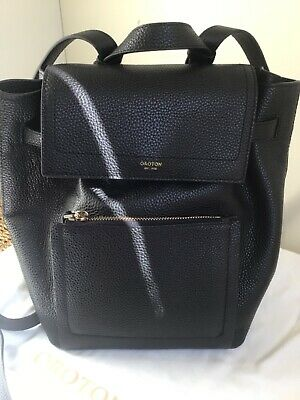 AU159 • Buy Oroton Lucy Backpack Black Leather RRP $369.00 Brand New W Tags + Oroton Dustbag