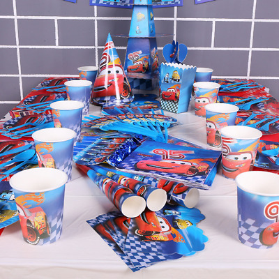 £2.99 • Buy Disney Cars McQueen Lightning Birthday Party Balloon Decoration Plate Cup Napkin