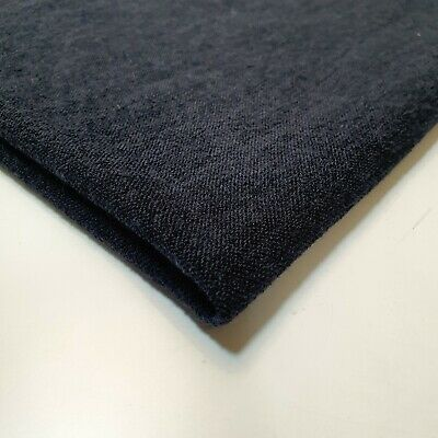 £1.99 • Buy Navy Sweater Knit Jersey Fabric Sparsely Knited Viscose Sold By The Metre 58