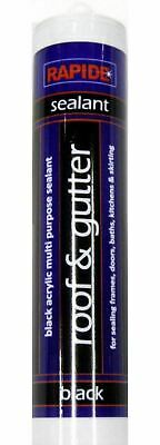 £7.45 • Buy Black Roof & Gutter Sealant Waterproof Silicone Cartridge All Weather Shed Felt