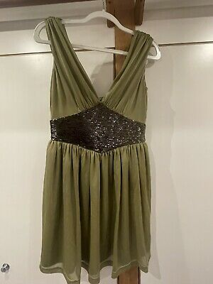 £27 • Buy Kate Moss For Topshop Size 14 Green Beaded Embellished Grecian Dress