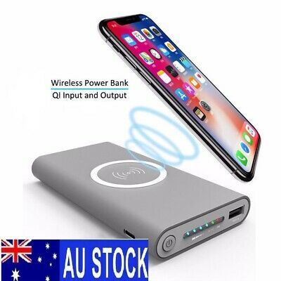 AU23.95 • Buy Qi Power Bank 10000 MAh Three-in-one Wireless Charging Mobile Power Bank