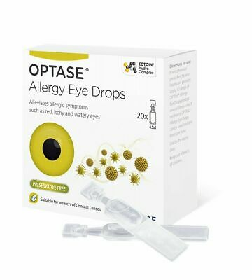 £10.49 • Buy Optase Eye Allergy Drops Suitable For Children And Contact Lenses- New-20x0.5ml