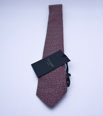 £20 • Buy Ted Baker Tie Brown Geometric Pattern Silk Shell Tie Brand New With Tags