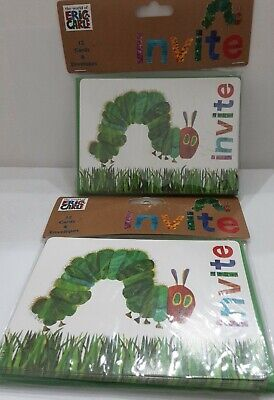 £21.79 • Buy The Very Hungry Caterpillar 24 Party Invitations Eric Carle NWT