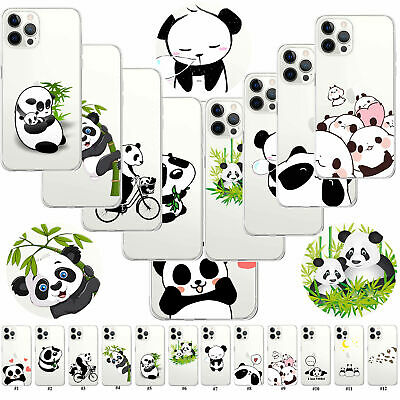£3.59 • Buy Panda Flexible Clear TPU Case Cover For IPhone 12 Pro Max 11 XR X/XS MAX IPod 7