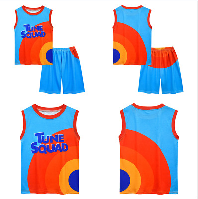 £10.67 • Buy 2Pcs Space Jam Basketball Costume Vest Shirt Tops Shorts Outfit Kids Gift 2021