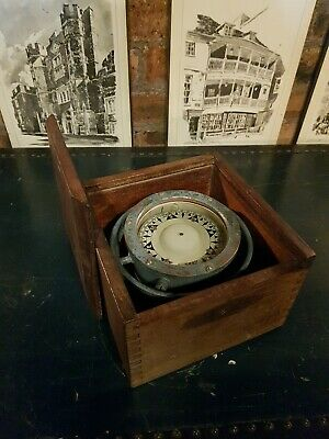 £120 • Buy Vintage Sestrel Maritime Ship's Gimbal Compass In Wooden Box