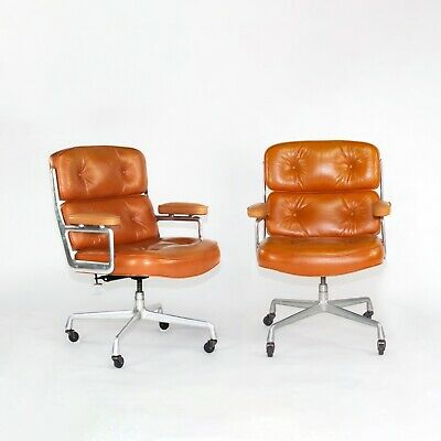£3436.02 • Buy 1978 Herman Miller Eames Time Life Desk Chair In Cognac Leather Multiple Avail