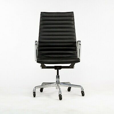 £1229.43 • Buy 2010s Herman Miller Eames Aluminum Group Executive Desk Chair In Black Leather