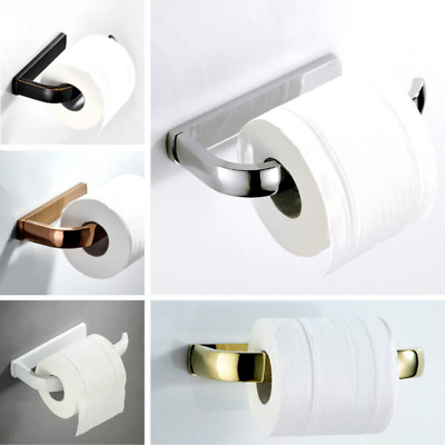 AU28.09 • Buy Brass Toilet Paper Holder Stand Polished Chrome Roll Tissue Rack Wall Mounted