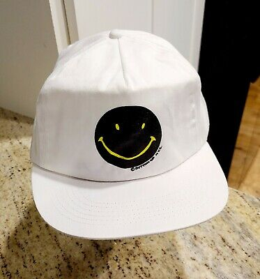 £56.74 • Buy Vtg Button-up Nyc Smiley Face White Supreme Cloth Snapback Baseball Cap Hat