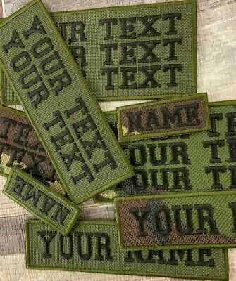 £3.75 • Buy Personalised Waterproof Camouflage Cordura Style Embroidered Name Patch Tag