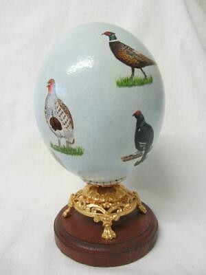 £49.99 • Buy Hand Painted & Signed Real Blown Ostrich Egg British Game Birds By Gena Cadger