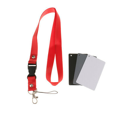 £4.32 • Buy 3 In 1 18% Digital White Balance Grey Card Color Exposure Cards For Video,