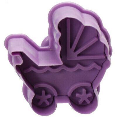 £3.24 • Buy 4PCS/Set Stamp Plunger Cutter Cookie Mold DIY Hand Press 3D Baby Clothes Shower