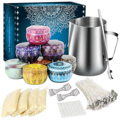 £20.99 • Buy Complete Candle Making Kit Diy Candle Craft Tool Pouring Pot Wicks Jar Wax Gift