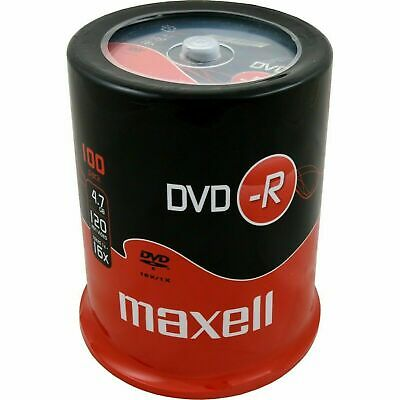 £20.66 • Buy Maxell DVD-R 47 100 Pack Spindle 120 Minutes Video Time 4.7GB Of Data, 16x Speed