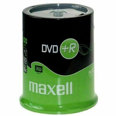 £20.66 • Buy Maxell DVD+R 47 100 Pack Spindle 4.7GB Data 16x Speed, 120 Minutes Of Video Time