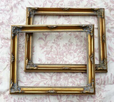 £27.99 • Buy  Vintage Gold Wooden Picture Frames French Rococo X 2