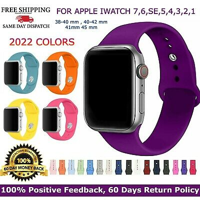 AU5.77 • Buy For Apple Watch IWatch Band Series 6/5/4/3/2 Sport Silicone Strap 38/40/ 42/44mm