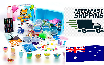 AU51.94 • Buy ToysButty Magic DIY Slime Kit 24 Colors Premade Slime Over 100 Accessories AU