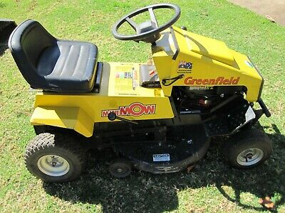 AU1800 • Buy Ride On Lawn Mower 25  Cut Greenfield Mini Mow 25 With Catcher And Trailer