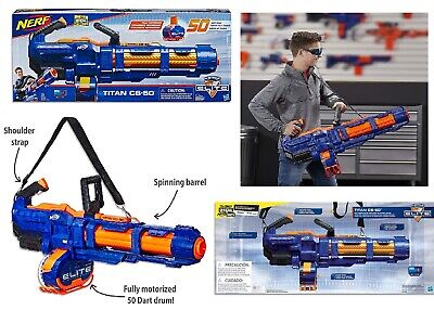 AU189.05 • Buy NERF Elite Titan CS 50 Blaster With 50 Official Darts Ages 8+ Toy Gun Fire Play
