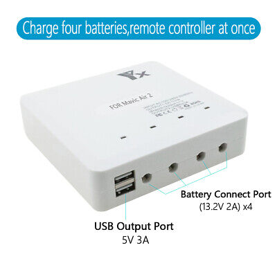 AU78.91 • Buy For DJI Mavic Air 2 Drone RC 6 In 1 Smart Battery Multi Charger USB Charging Hub