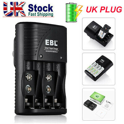 £8.59 • Buy EBL Rapid Smart Charger For 9V AA AAA NiMH NiCD Rechargeable Battery ( 3 In 1 )