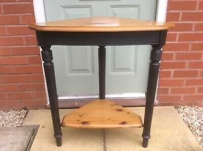 £45 • Buy Ducal Pine Corner Table 2 Tiers Painted Legs Top And Shelf Victoria Colour
