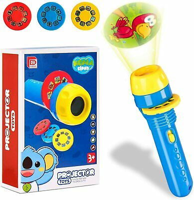 £6.59 • Buy 2 IN 1 Animals Pattern Torch Projector Flashlight Children Kids Educational Toys