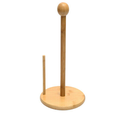 AU25.64 • Buy Bamboo Toilet Paper Holder Free Standing Roll Tissue Storage Stand 3x13inch,