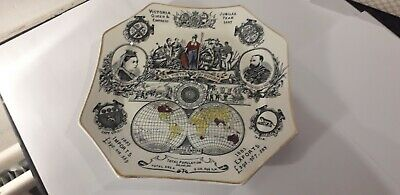 £34.99 • Buy Queen Victoria Jubilee Pottery Plate 1887 Silber & Fleming London Rd No 63164