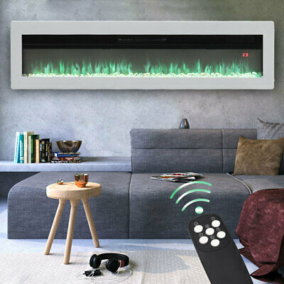 £209.95 • Buy 50  Electric Fireplace 9 Colour LED Flame Wall Insert/Free Standing Remote Stove