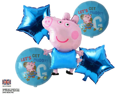 £3.90 • Buy George Pig 31  & Peppa Pig  Large Number Foil Balloon Party Birthday Decoration